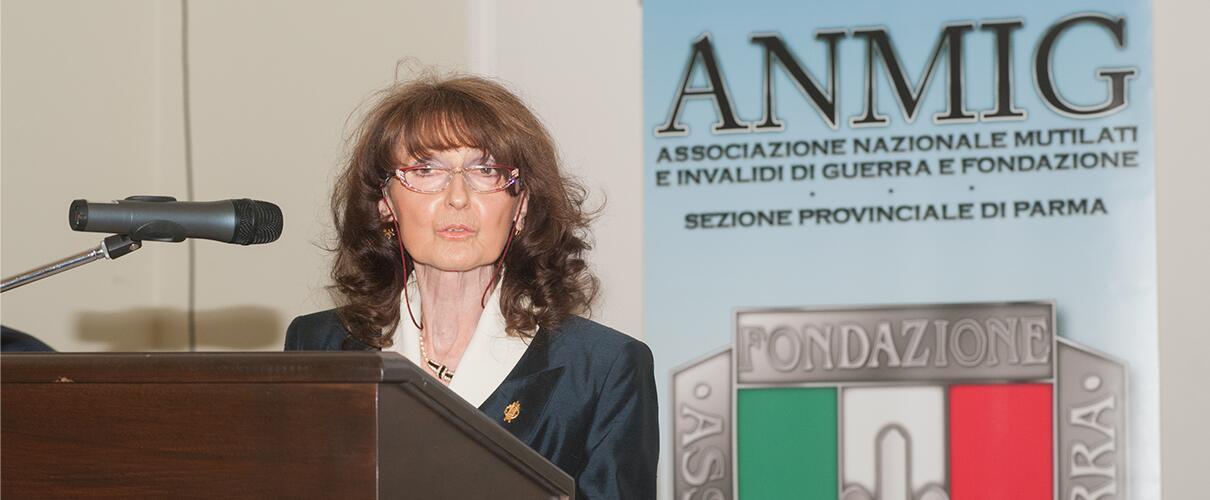 Una vita per la Patria 2015 - Zobeide Spocci - Presidente A.N.M.I.G. sez. Parma
