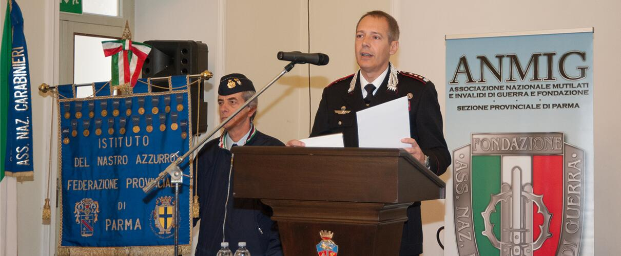 Una vita per la Patria 2015 - intervento del Col. Massimo Zuccher - Comandante Comando Prov.le Carabinieri Parma