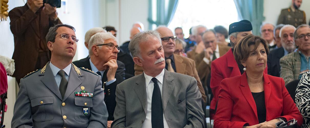 Una vita per la Patria 2015 - P.L. Fedele - Comandante Corpo Forestale Parma, G.G. Bellini - Consigliere Provincia, On.le Patrizia Maestri