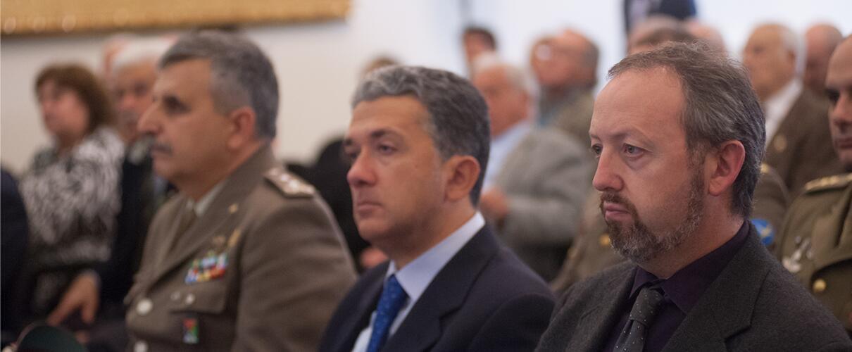 Una vita per la Patria 2015 - Gen. C. Alimenti, M.F. Anelli - Vice Questore Vicario di Parma, S. Bianchi - Vice Presidente A.N.M.I.G. Parma