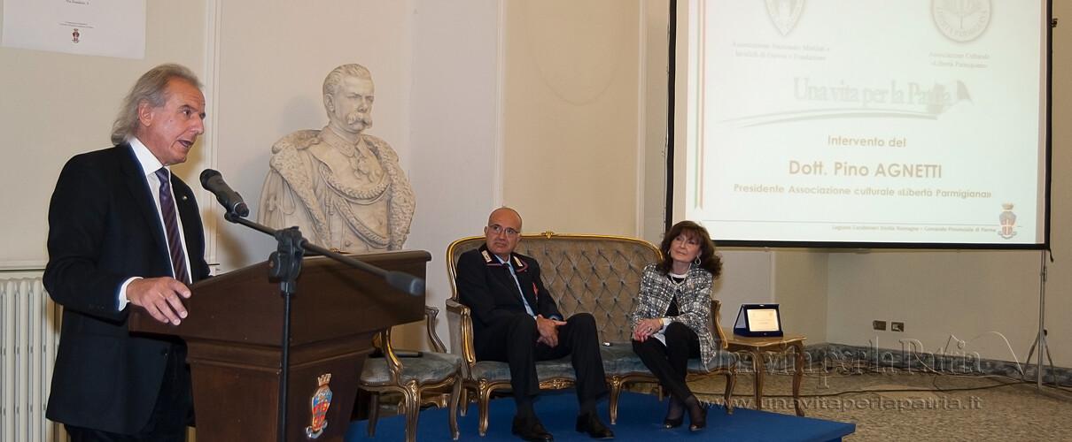 """Una vita per la Patria 2016 - intervento Pino Agnetti - Presidente Associazione culturale """"Libertà Parmigiana"""""""