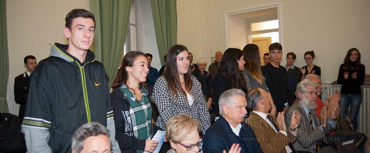 """Una vita per la Patria 2016 - studenti classe 4B Grafica Istituto """"Toschi"""" di Parma"""