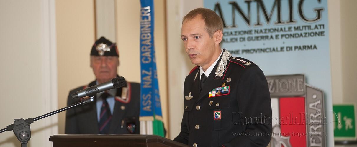 Una vita per la Patria 2016 - intervento del Col. Massimo Zuccher - Comandante Comando Prov.le Carabinieri Parma