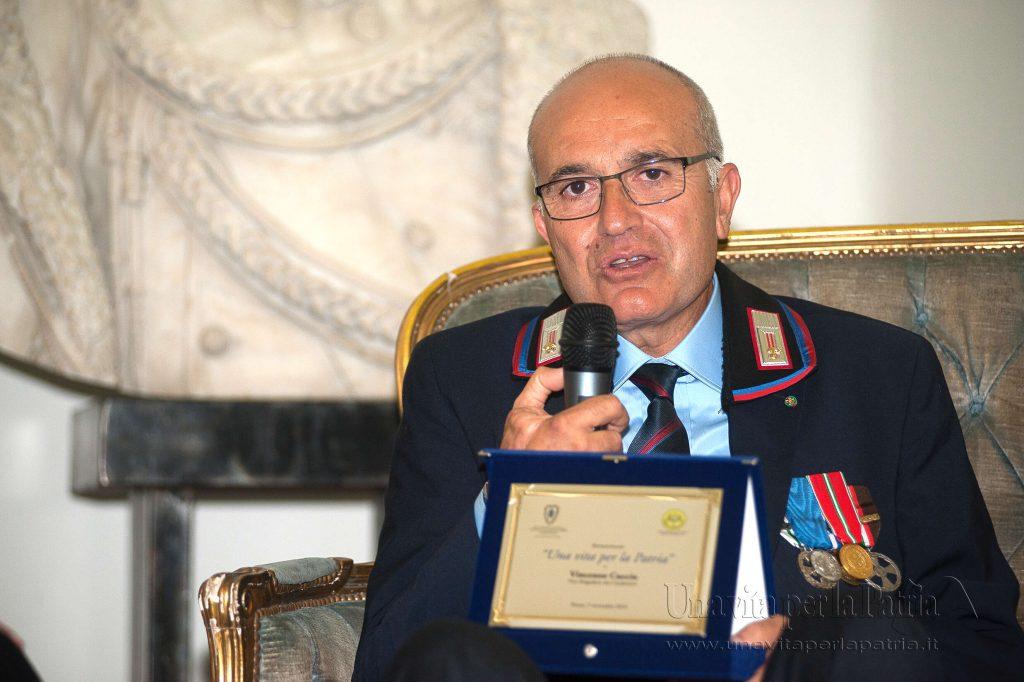 Una vita per la Patria 2016 - intervento del Vice Brigadiere (cong.) Vincenzo Cuccia - Arma dei Carabinieri